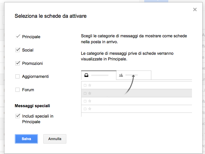 Schede Gmail
